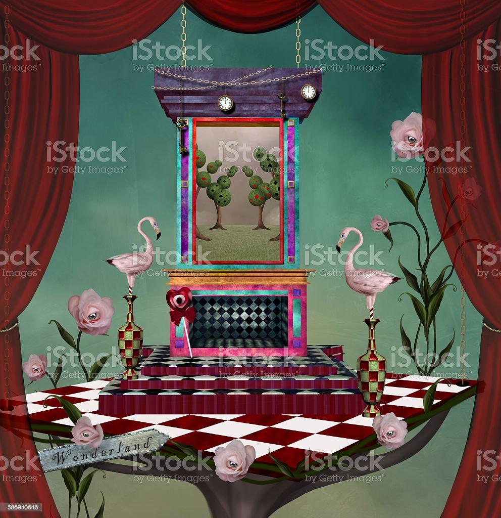 Surreal stage with stuff - illustrazione arte vettoriale