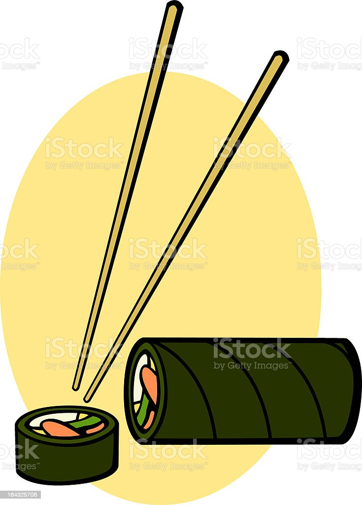 sushi roll royalty-free sushi roll stock vector art & more images of carbohydrate - food type