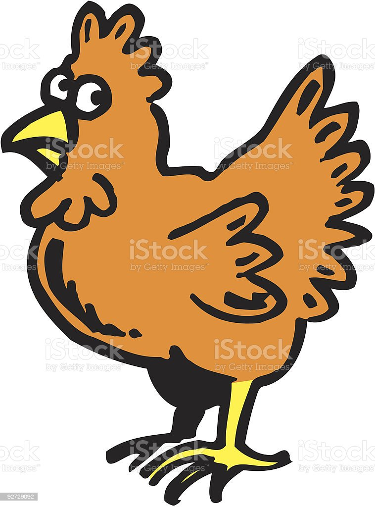 Suspicious chicken royalty-free suspicious chicken stock vector art & more images of anxiety