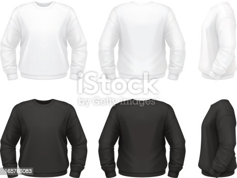 Vector illustration of classic sweatshirt.