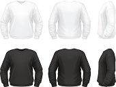 Vector illustration of classic sweatshirt.