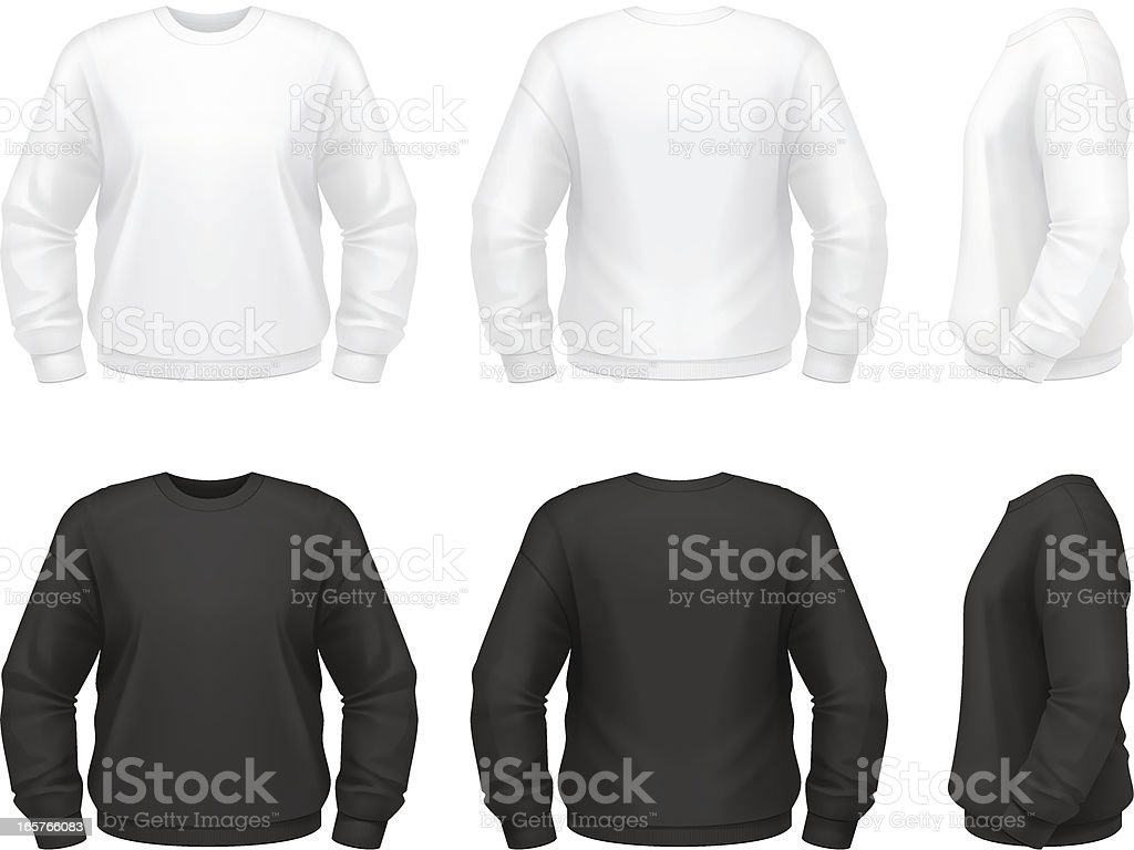 Sweatshirt vector art illustration