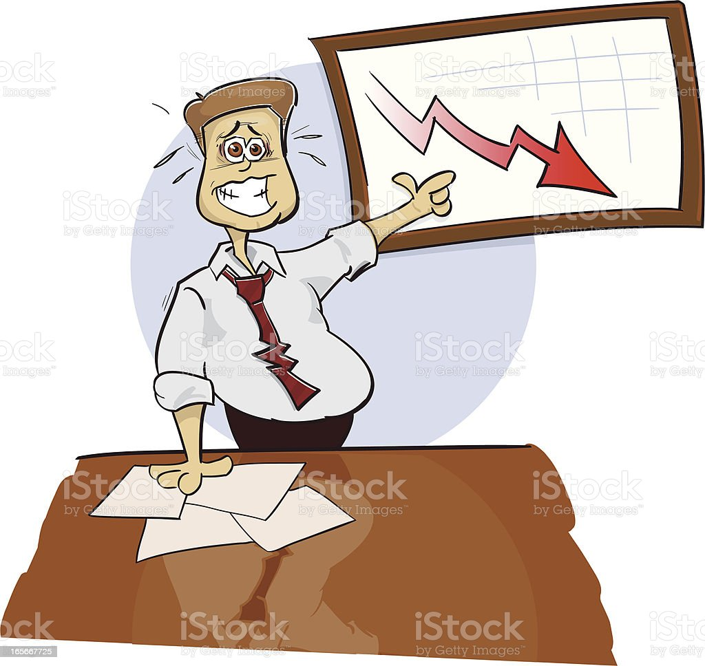 Sweaty Businessguy royalty-free stock vector art