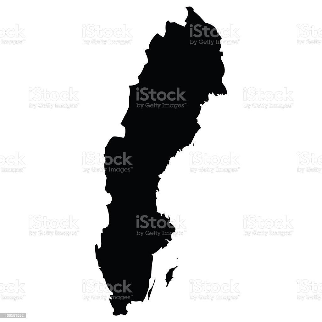 Sweden vector art illustration