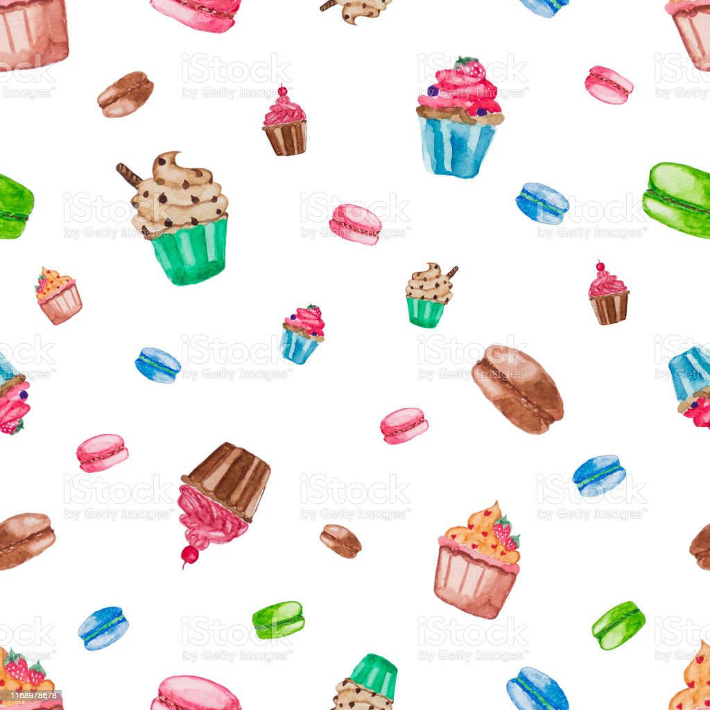 sweet dessert collection on white isolate background cupcake and macaroon stock illustration download image now istock sweet dessert collection on white isolate background cupcake and macaroon stock illustration download image now istock