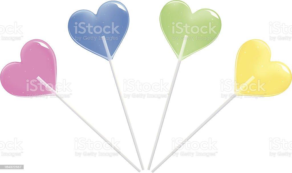 'Sweet hearts' Lollypop royalty-free stock vector art