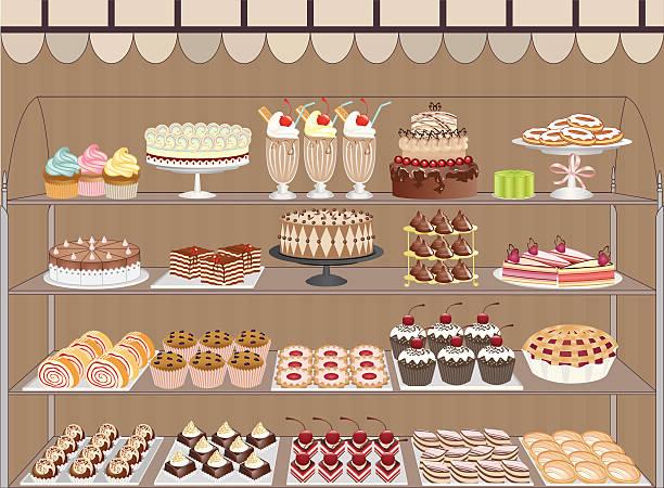 sweet shop - vanillesauce stock-grafiken, -clipart, -cartoons und -symbole