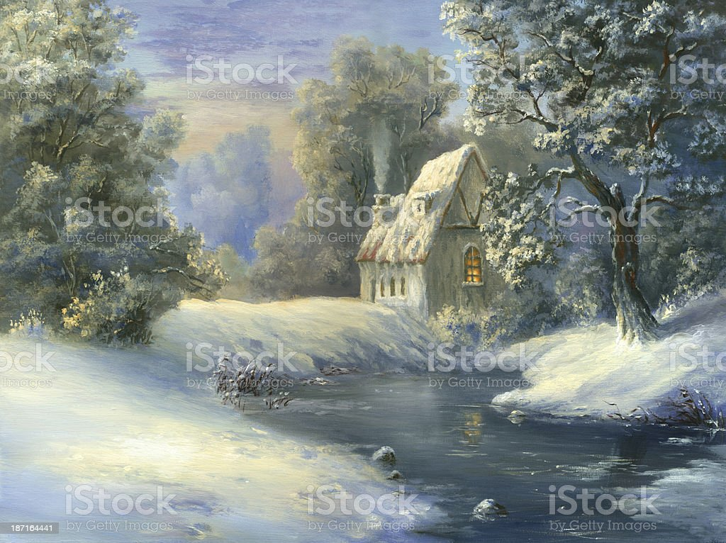 Sweet Winter Home royalty-free stock vector art