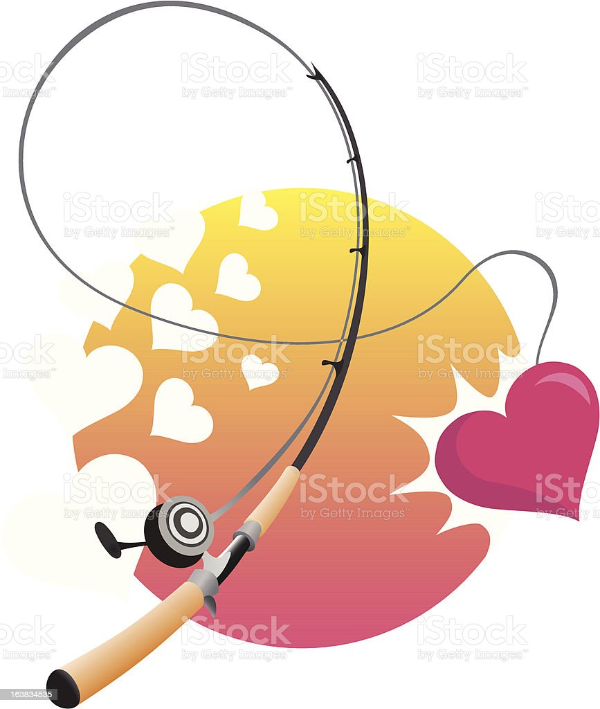 Sweetheart catch vector art illustration