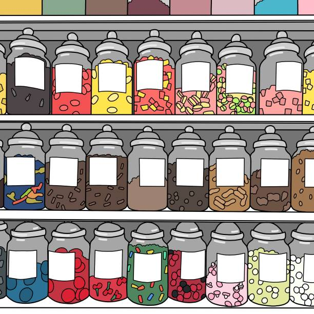 Sweetie shop candy vector art illustration
