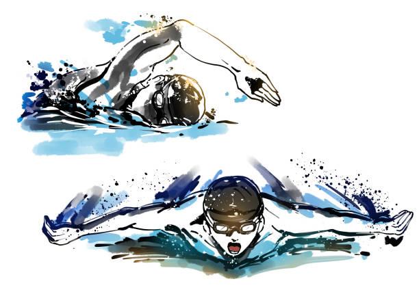 水泳 ベクターアートイラスト