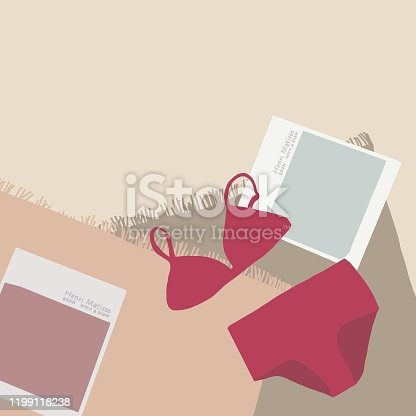 istock Swimwear and books flat lay image 1199118238