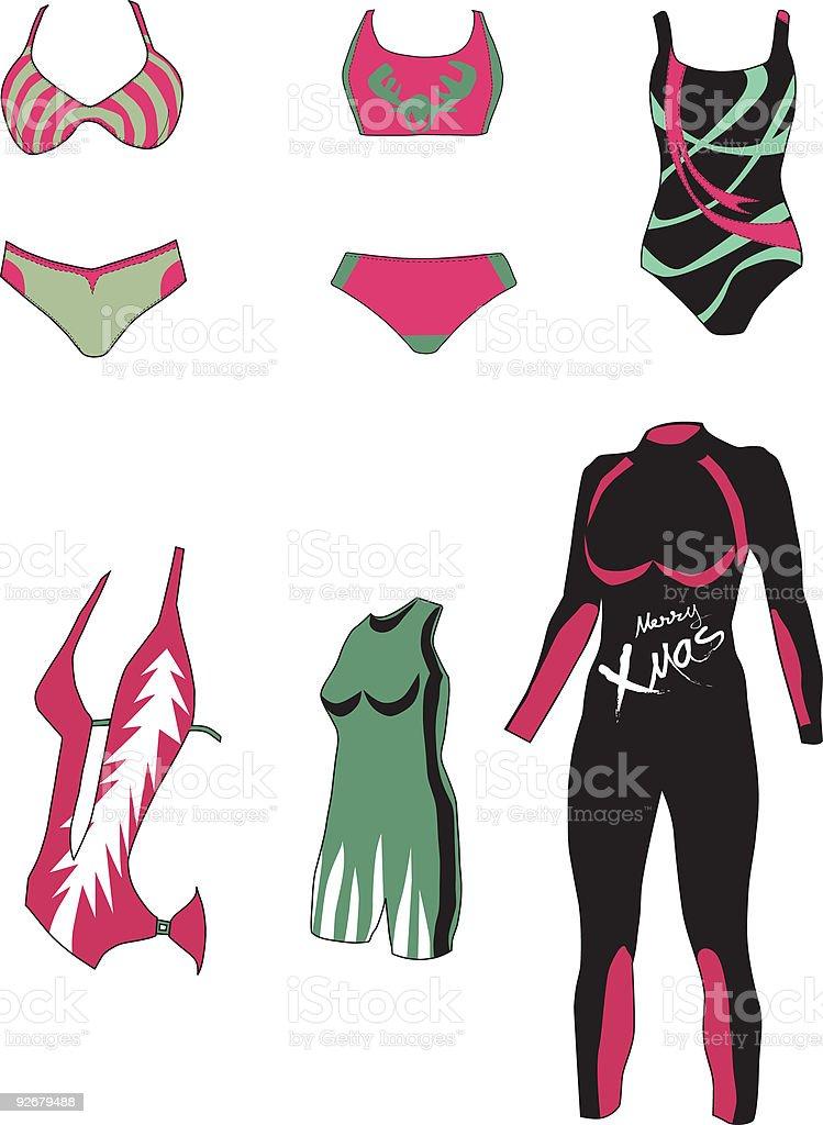 Swimwear royalty-free stock vector art