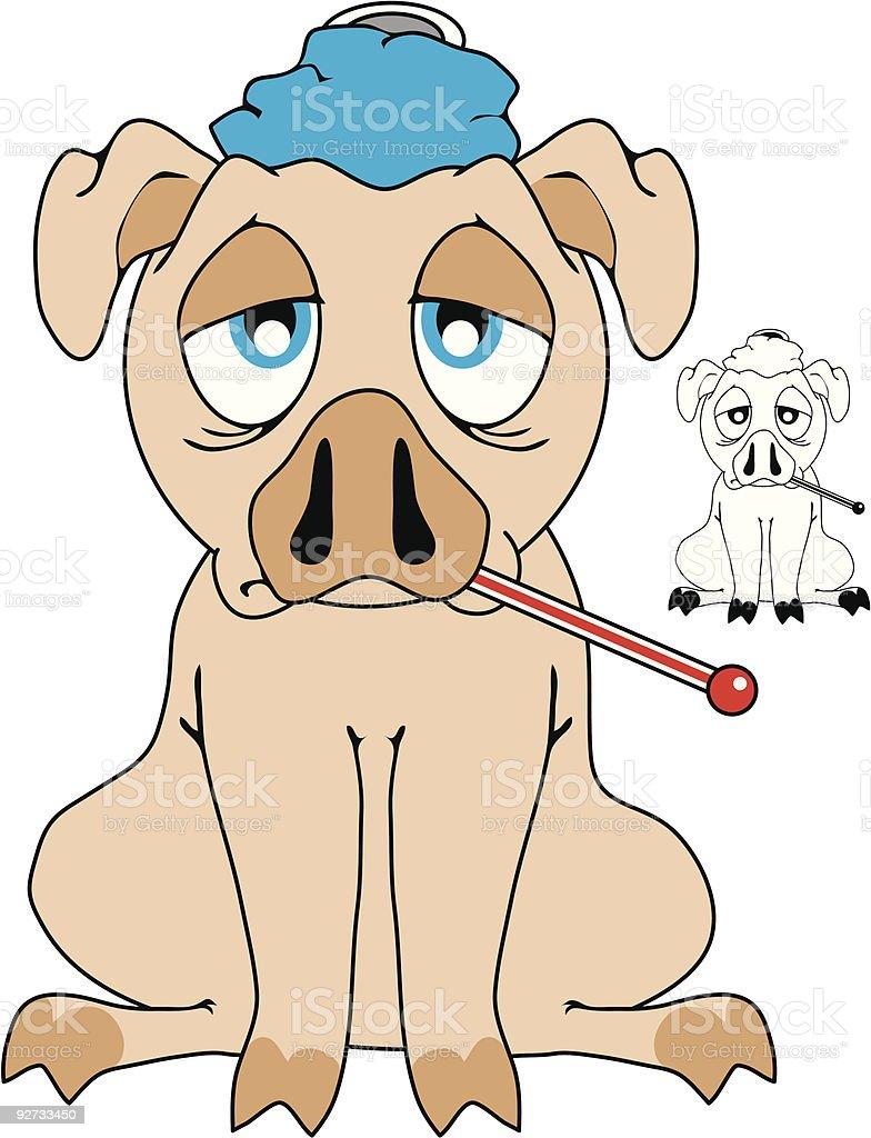 Swine [with] Flu! royalty-free stock vector art