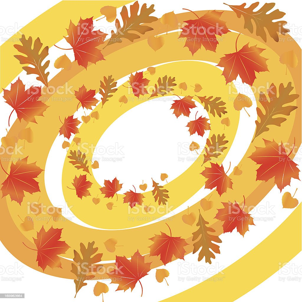 swirl - autumn leaves royalty-free swirl autumn leaves stock vector art & more images of autumn
