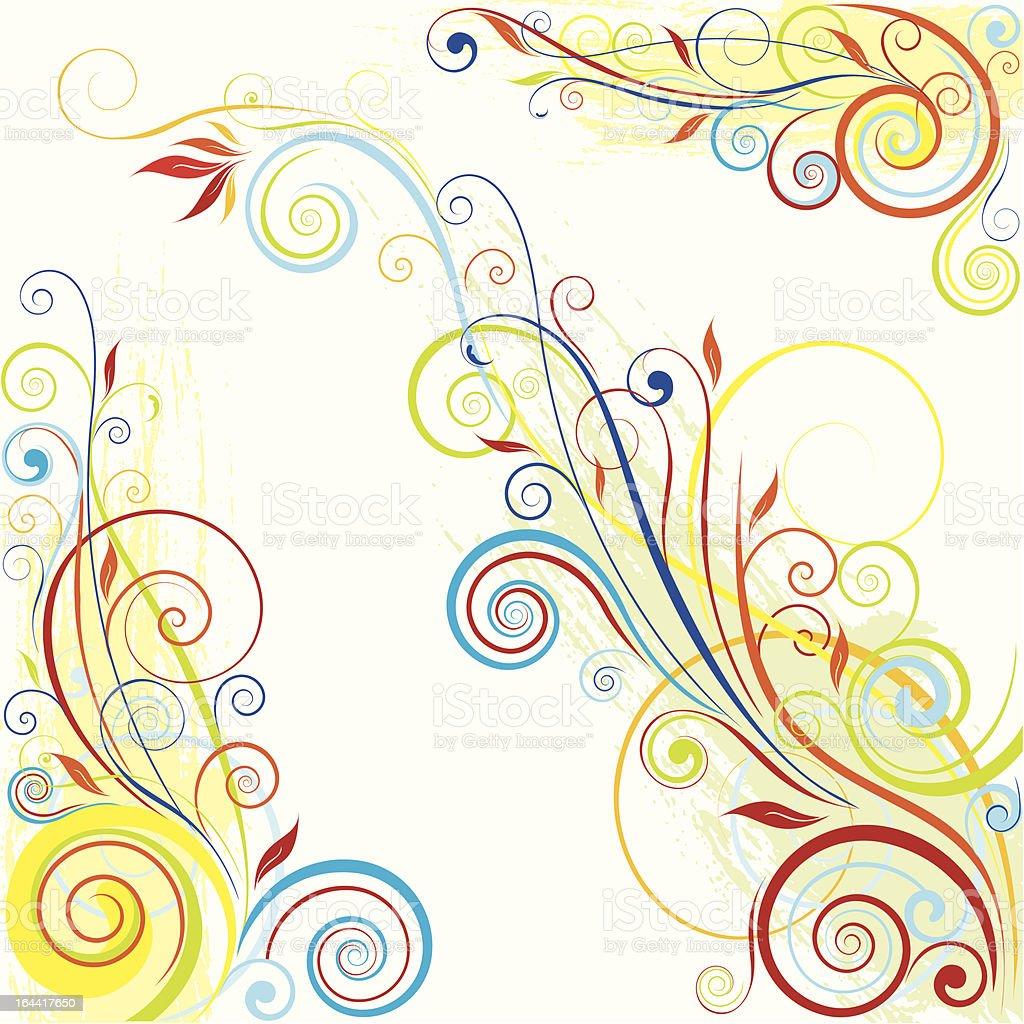 Swirl color design royalty-free stock vector art