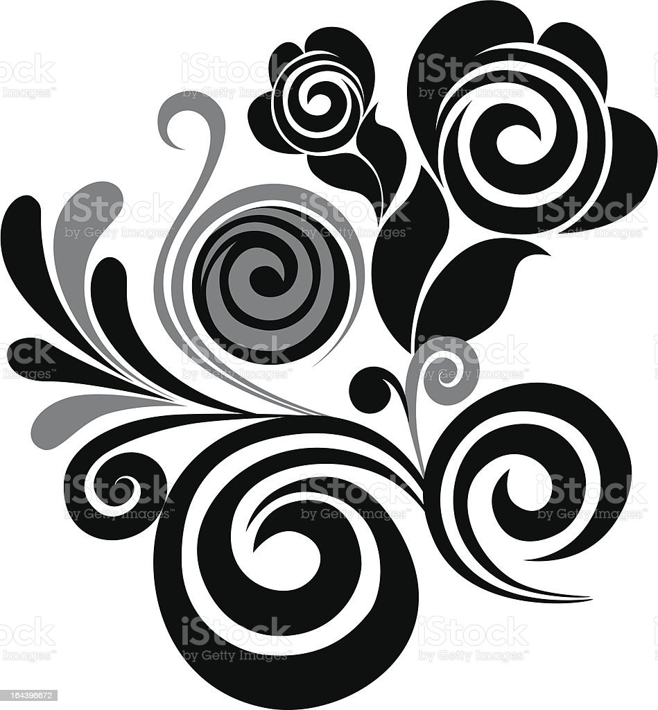 swirl floral element royalty-free stock vector art