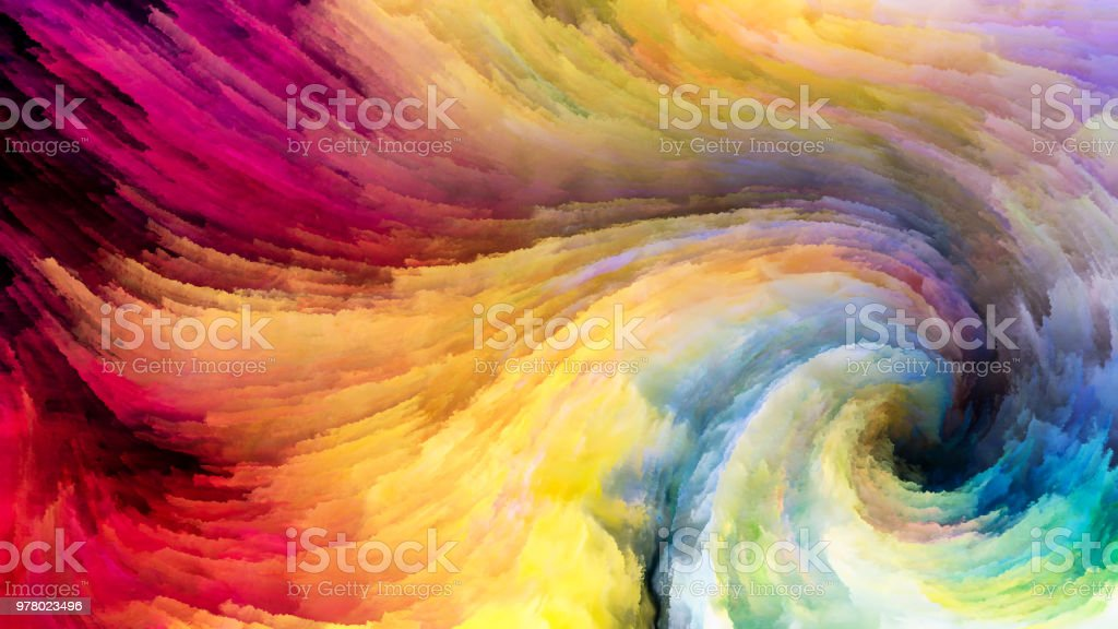Swirling Colors vector art illustration