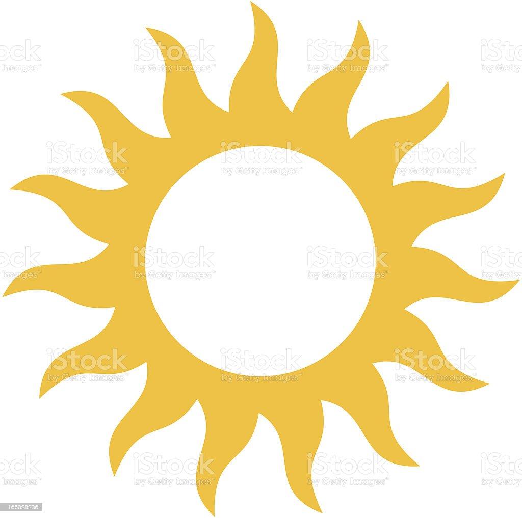 Swirling sun vector art illustration