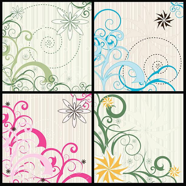 Swirls and Curls vector art illustration