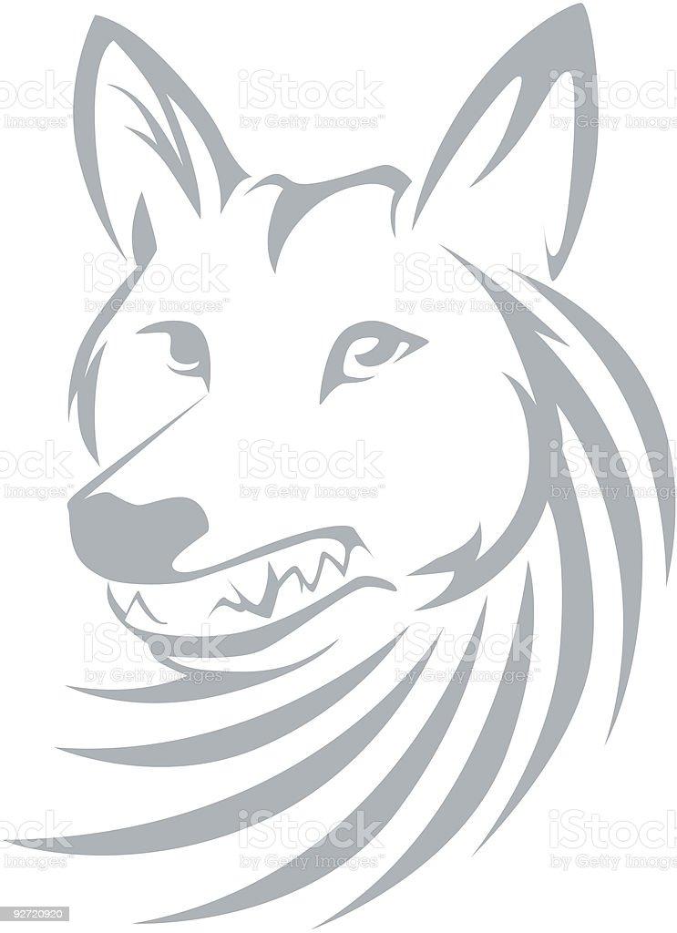 Swish Style Coyote royalty-free stock vector art