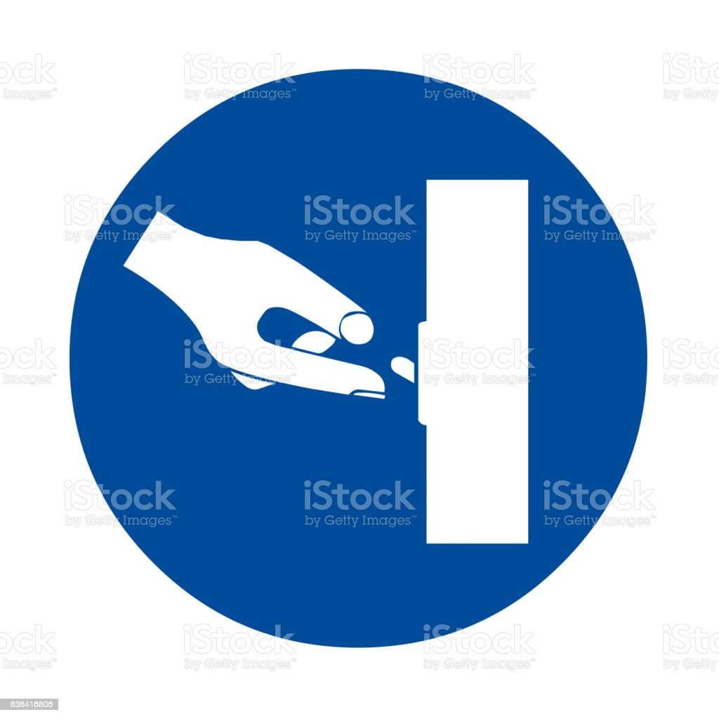 Switch off after use sign vector art illustration