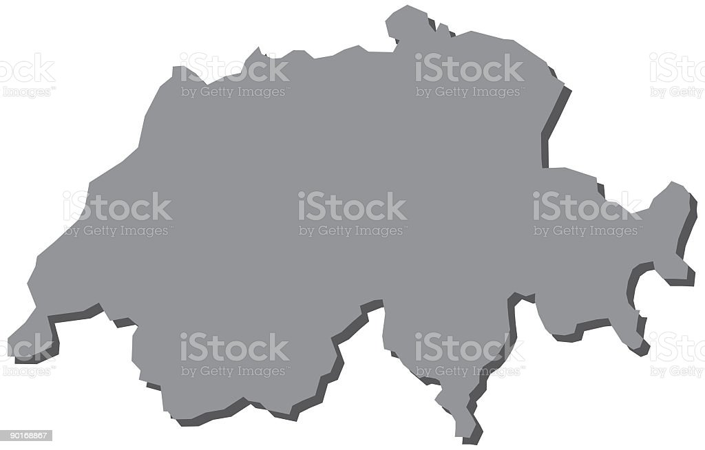 Switzerland Map Europe royalty-free stock vector art