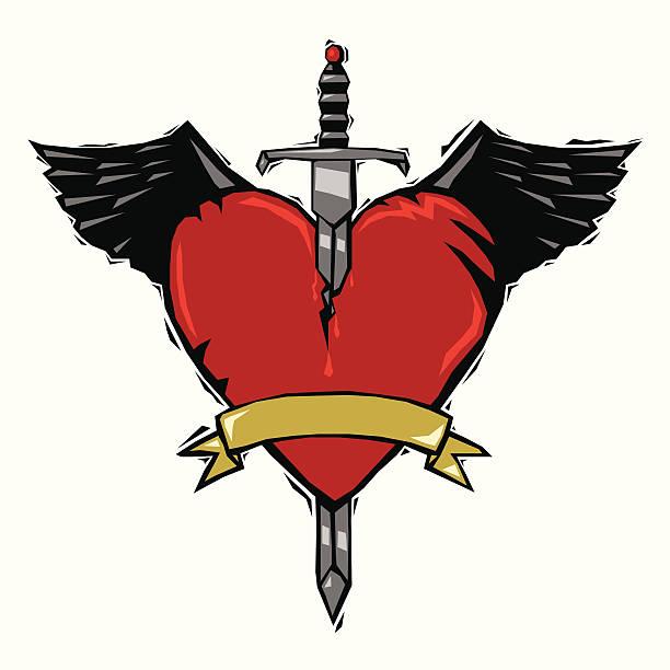 19 Broken Wings Tattoo Illustrations Royalty Free Vector Graphics Clip Art Istock
