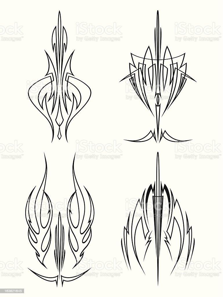 Sword Brush Pinstriping Designs Stock Illustration Download Image Now Istock