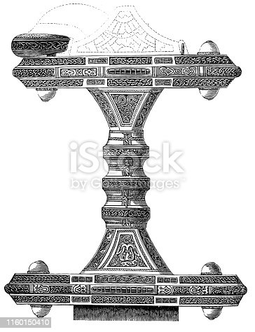 Illustration of a end of a sword-scabbard
