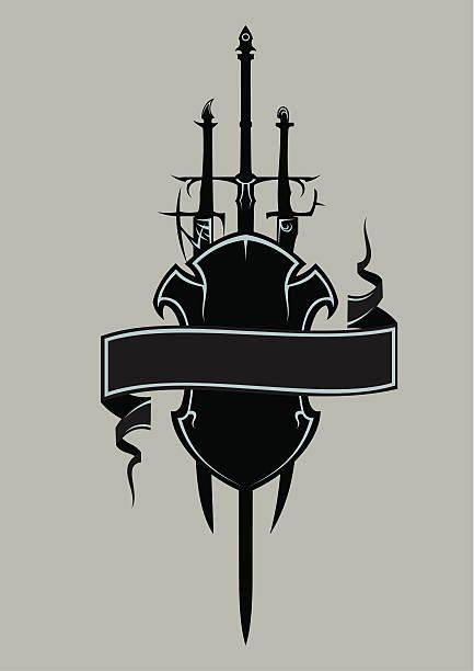 刀とシールド ベクターアートイラスト