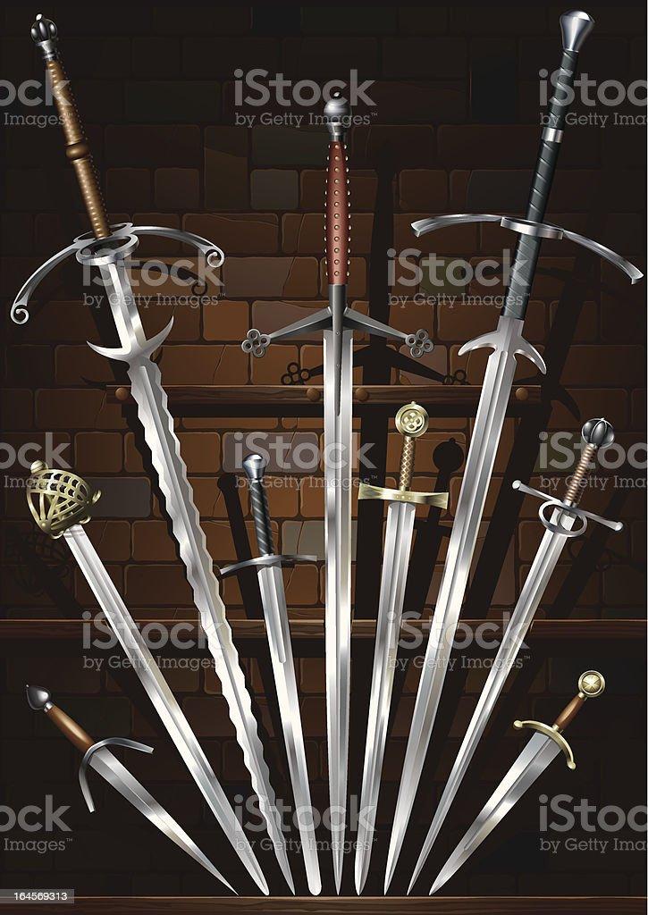 Swords_background royalty-free stock vector art