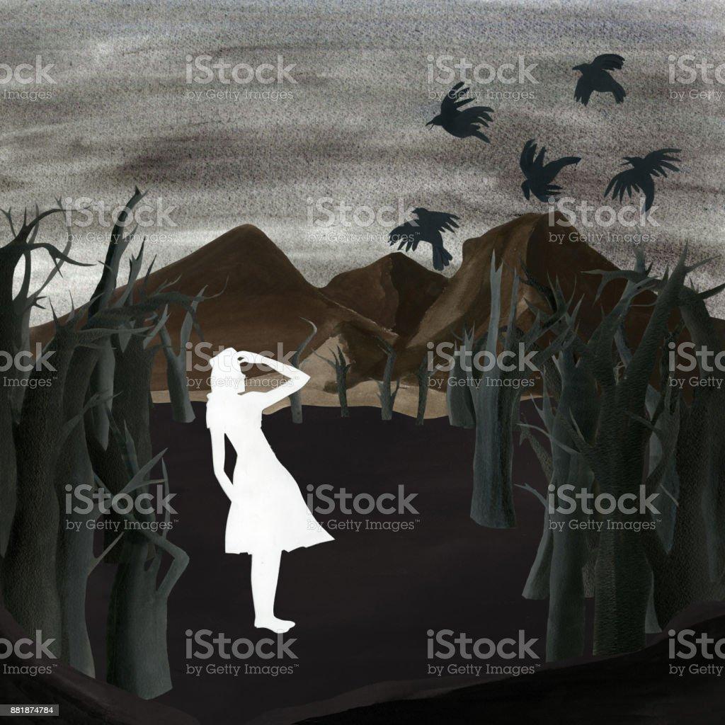 Sybil vector art illustration