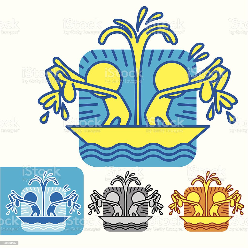Symbol man All in the Same Boat royalty-free stock vector art