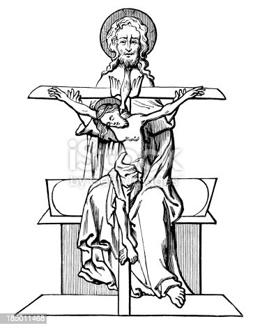 Vintage engraving showing the Symbol of the Trinity