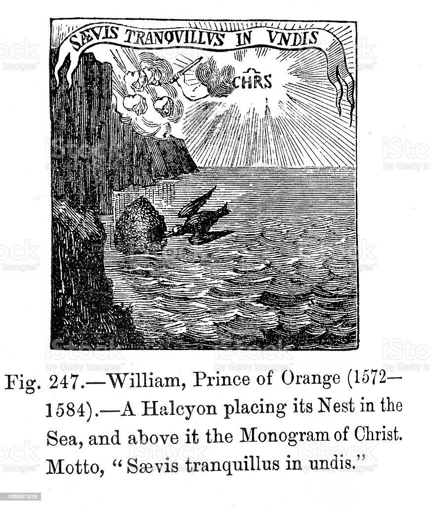 Symbol - William, Prince of Orange royalty-free symbol william prince of orange stock vector art & more images of 16th century