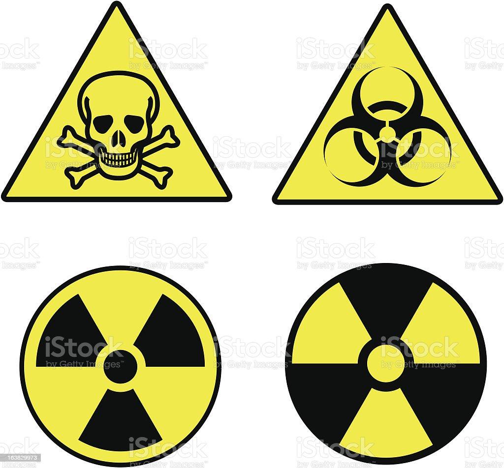 "CBRN symbols ""(CBRN) Chemical, Biohazard, Radioactive, Nuclear Symbols"" Aggression stock vector"