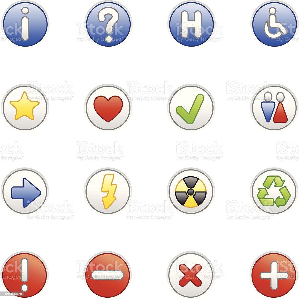Symbols (colored series) royalty-free stock vector art