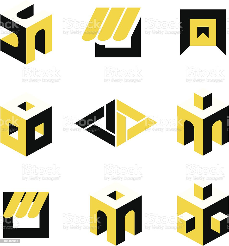 Symbols On Construction Stock Illustration - Download Image