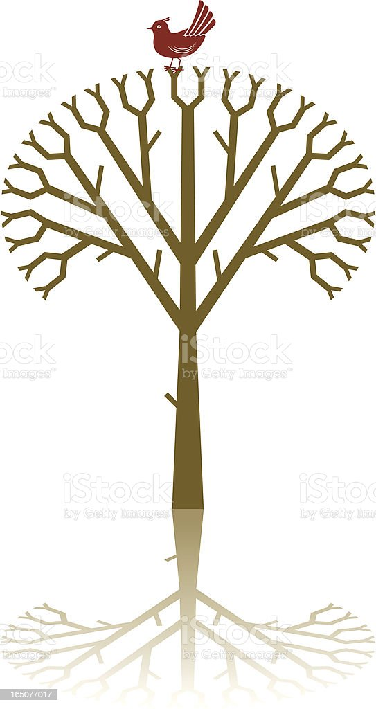Symmetrical tree royalty-free stock vector art