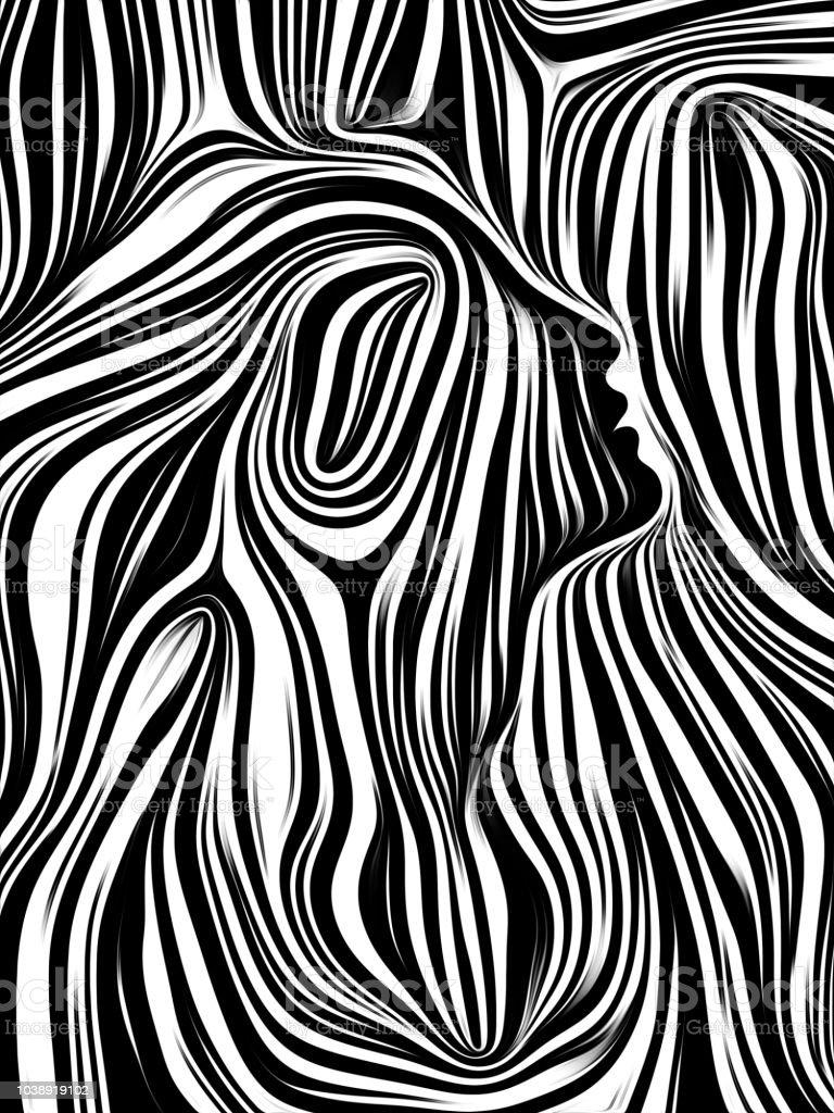 Synergies of Inner Lines vector art illustration