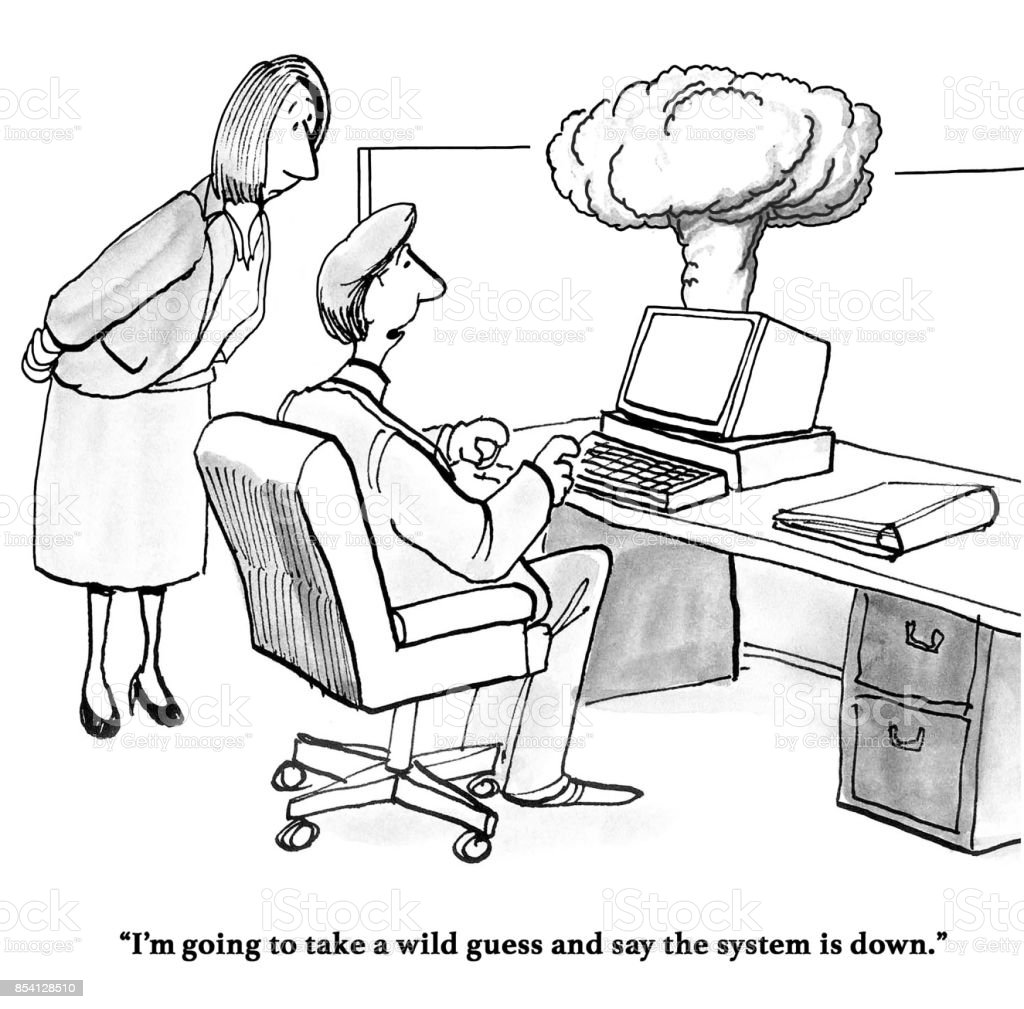 System is Down vector art illustration