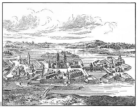 Illustration of a Szigetvár in XVI