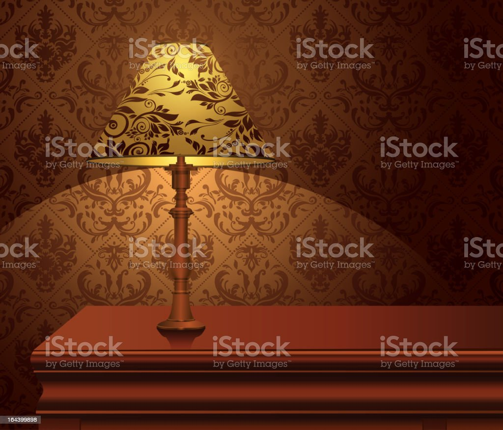 Tabe Lamp. royalty-free stock vector art