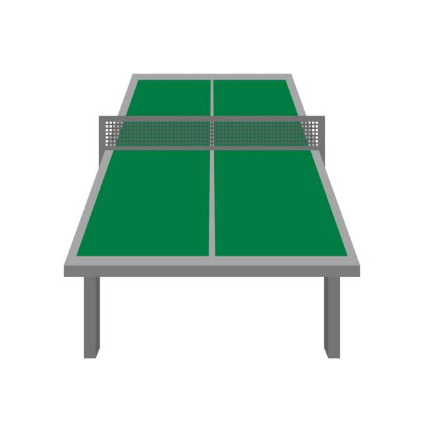 Table tennis table This is a table for table tennis. ping pong table stock illustrations