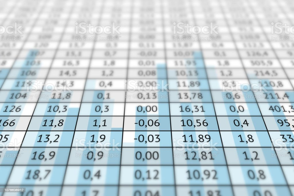 Outstanding Table With Numerical Data And Graph Stock Illustration Download Free Architecture Designs Scobabritishbridgeorg