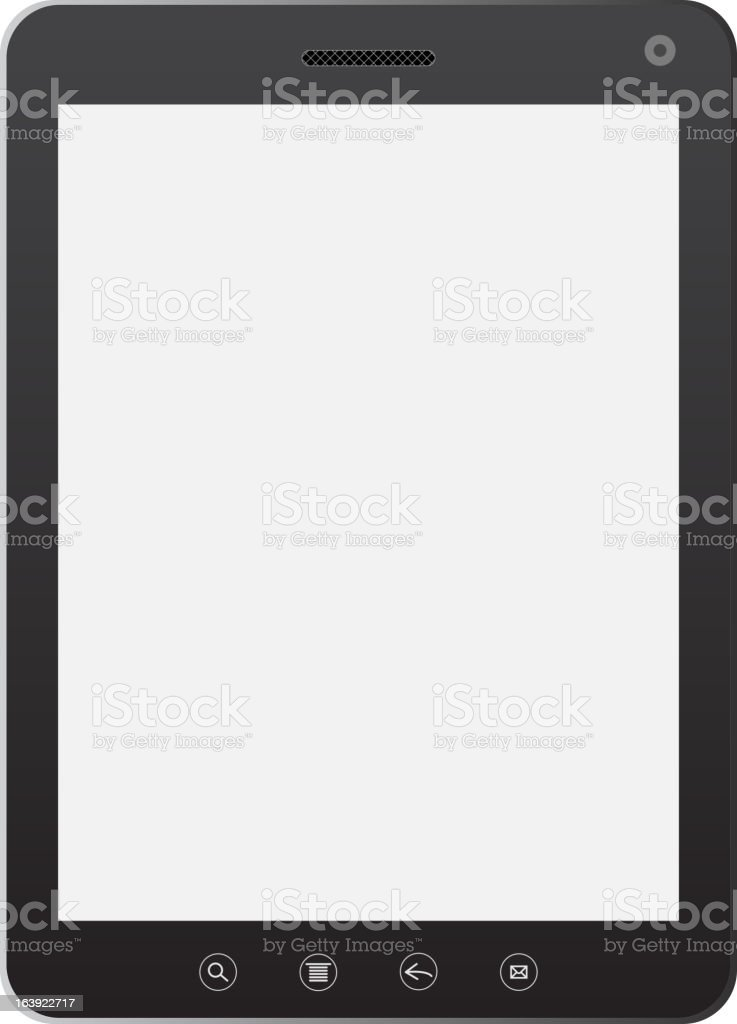 Tablet PC computer royalty-free stock vector art