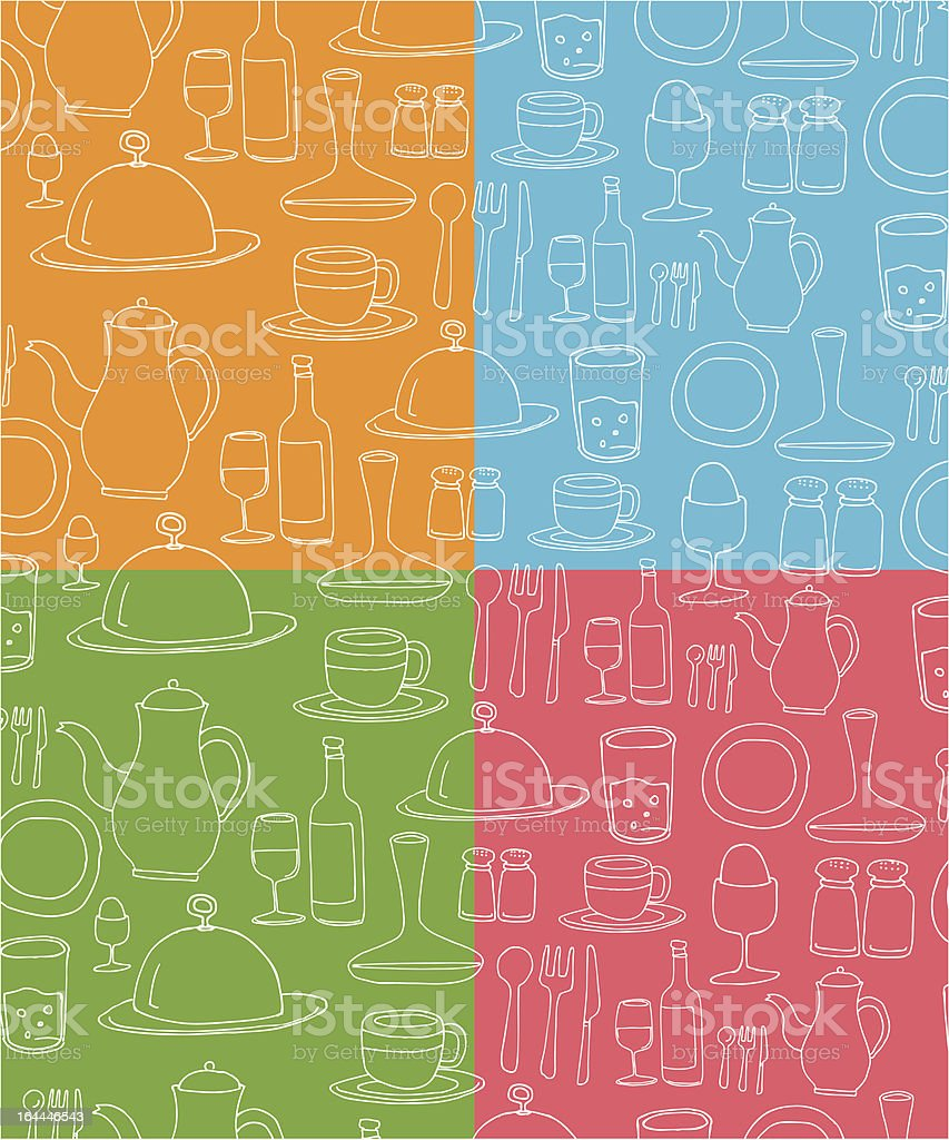 Tableware pattern royalty-free tableware pattern stock vector art & more images of backgrounds