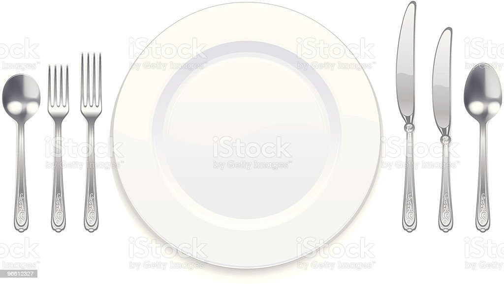 Tableware set - Royalty-free Bestek vectorkunst