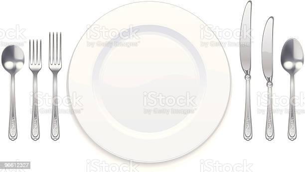 Tableware Set-vektorgrafik och fler bilder på Arrangera
